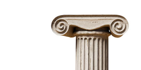 ancient greek column isolated on white background 3d illustration Stok Fotoğraf - 132031995
