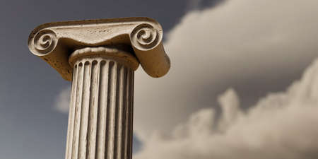 close up of an ancient greek column 3d illustration Archivio Fotografico - 132031998