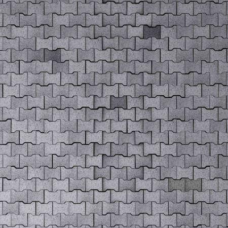 huge tiled cobblestone ground texture 3d illustration Stock Illustration - 133099060