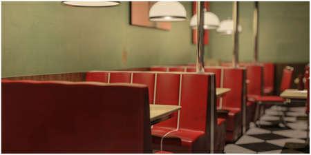 3d illustration of an old american diner