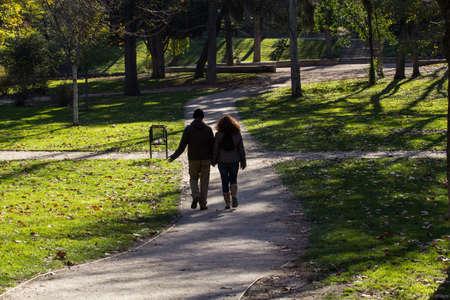 togheter: lovers walking
