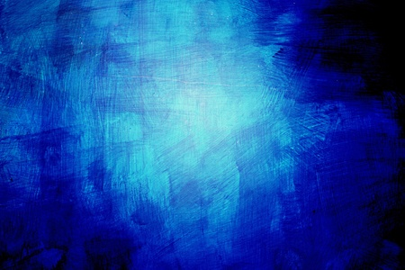 Abstract background of blue paint strokes applied in random directions with graduated colour towards a central highlight Stock Photo - 15537968