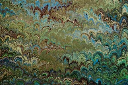 종이에 빈티지 녹색 대리석 패턴이나 고급 가죽 바인딩 된 책의 첫 페이지