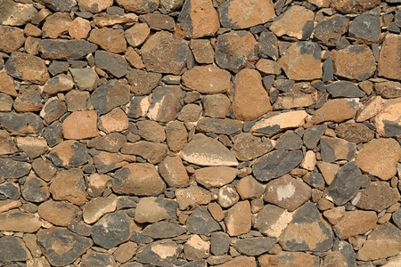 drystone: Architectural background oif a dry-stone wall construction made with interlocking stones without cement