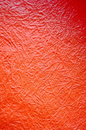 fibreglass: Abstract background texture of red fibreglass with rough fibres visible in the resin forming a random pattern Stock Photo
