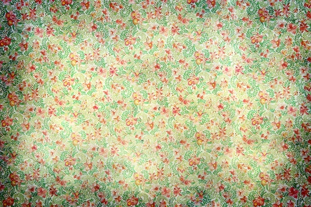 Patr�n de fondo de papel tapiz descolorido sucio vendimia floral con vi�etas pesado en los lados Foto de archivo