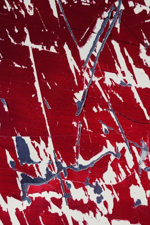 Abstract background texture and pattern of damaged red paper which has been scratched, scoured and torn Stock Photo - 17302098