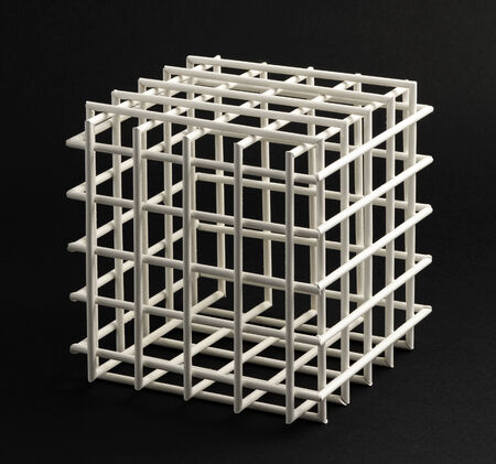 Open Empty Lattice Cubic Frame With Equilateral Sides In A Typical ...