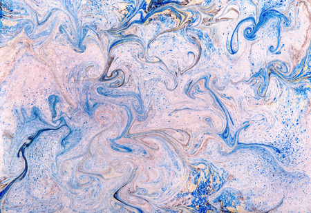 swirling: Full frame background texture and pattern of swirling blue and white marbled paper for vintage or retro books and documents