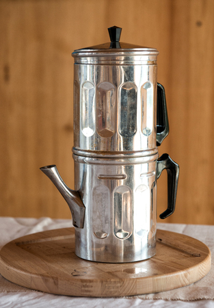 percolator: Neapolitan coffee pot, a traditional Italian coffee percolator from Naples
