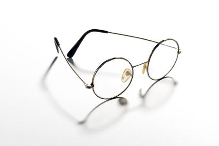 Pair Of Classic Round Vintage Eyeglasses, Glasses Or Spectacles ...