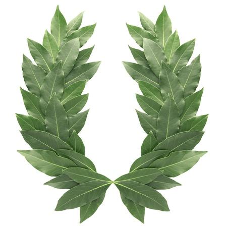 laurels: Laurel wreath isolated