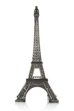 Eiffel tower model isolated on white