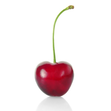 cherries isolated: Cherry isolated with clipping path