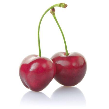 cherries isolated: Cherries isolated