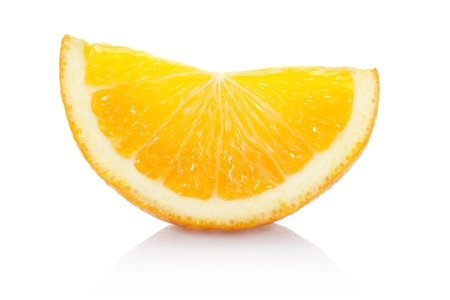 Orange slice isolated with clipping path