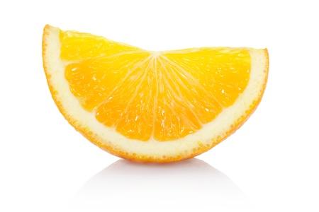 segmento: Rodaja de naranja aislada con trazado de recorte