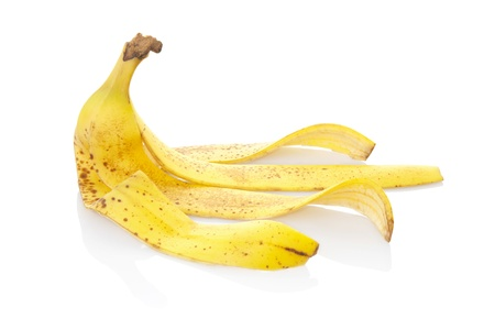 Banana peel with clipping path photo