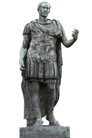 metal sculpture: Julius Caesar, roman conqueror