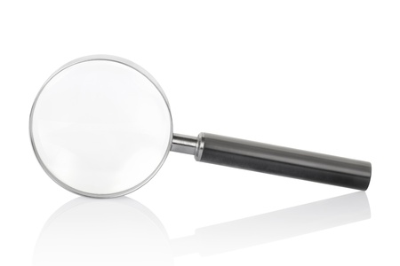 magnify glass: Magnifying glass Stock Photo