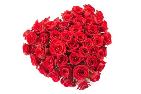Red roses heart photo