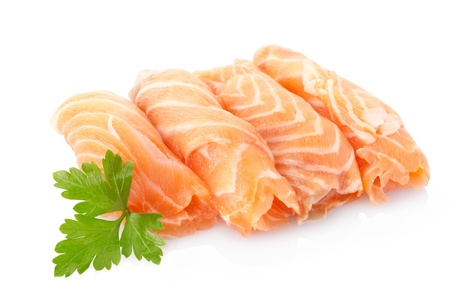 Salmon fish isolated on white Stock Photo - 9991147