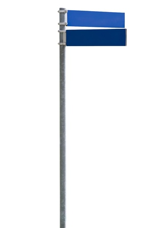 Blue blank street sign isolated on white, clipping path included Stock Photo - 10743958