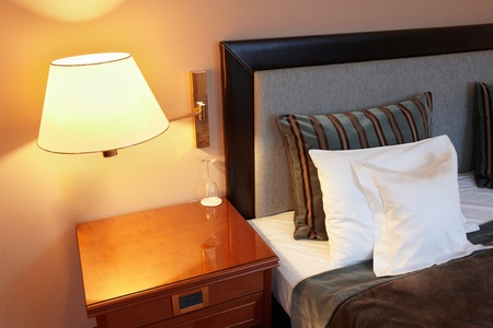 Bedroom, hotel bed and pillow Stock Photo - 10775778