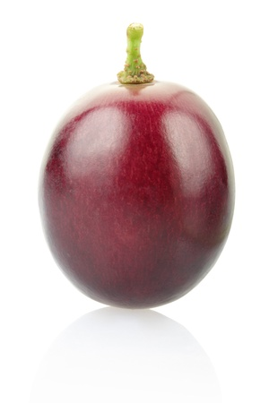 red grape: Red grape berry isolated on white
