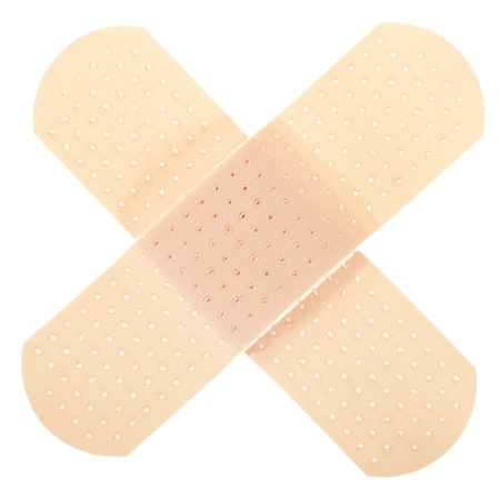 band aid: Plaster isolated on white Stock Photo