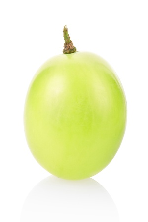 Green grape berry isolated on white Stock Photo