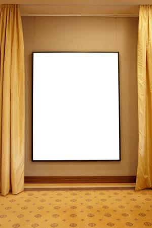 Blank frame in interior Stock Photo - 10959746