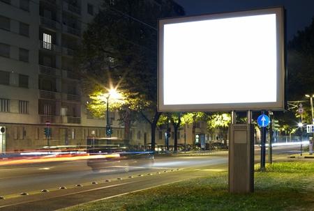 billboard advertising: Billboard in the city street