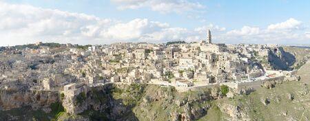 matera: Panoramic view of Matera, Italy