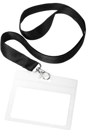 by passes: Tarjeta de identificaci�n o ID en blanco pase aisladas sobre fondo blanco, sin recortar camino incluido