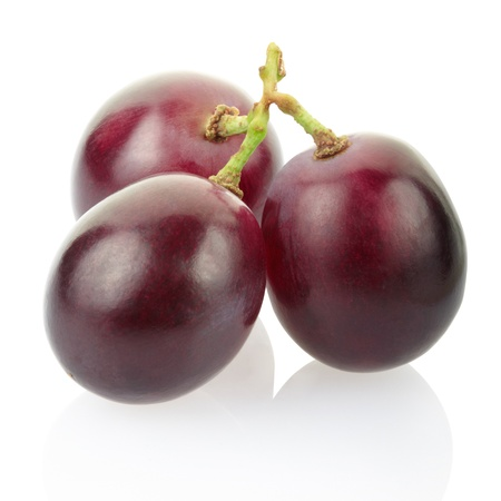 Red grape isolated on white, clipping path included photo