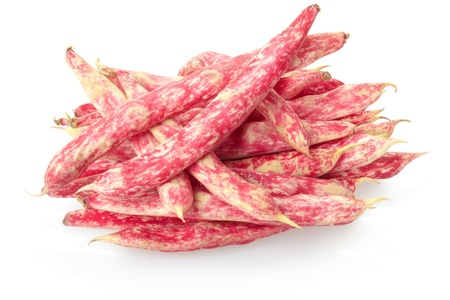 Red beans isolated on white, clipping path included photo