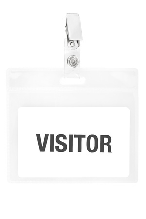 visitors: Visitor badge or ID pass with clipping path