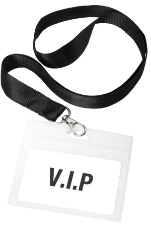 neckband: Vip badge or ID pass with clipping path