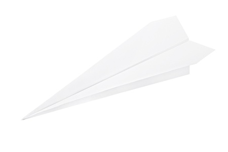 Paper plane isolated on white photo