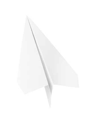 Paper plane isolated photo