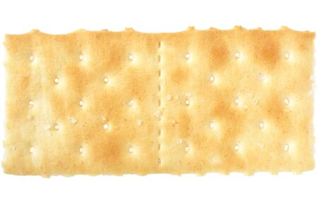 Cracker on white, clipping path included photo