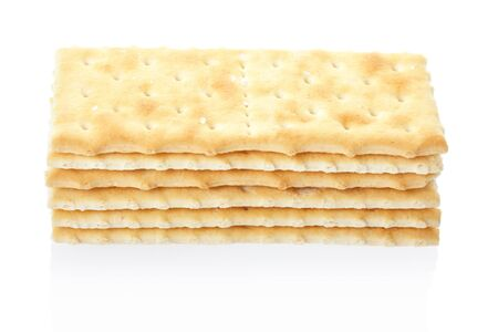Crackers isolated, clipping path included photo
