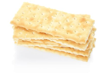 Crackers on white, clipping path included photo