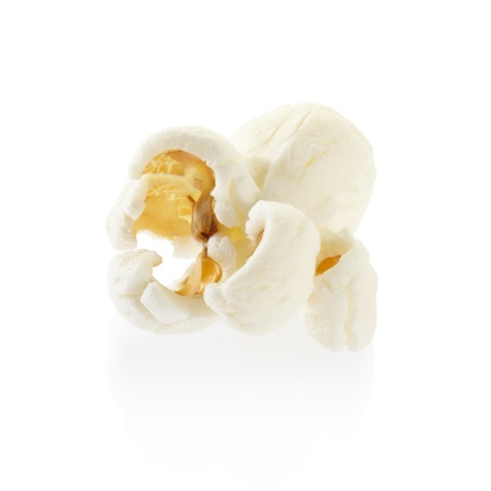 theater popcorn: Single popcorn isolated, clipping path included
