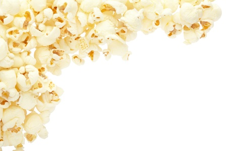 Popcorn border isolated, clipping path included photo