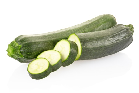 Zucchini isolated on white photo