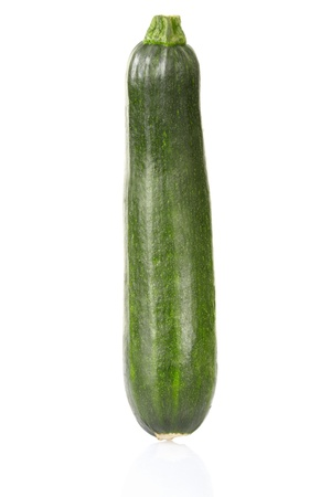 Zucchini or Courgette isolated on white photo