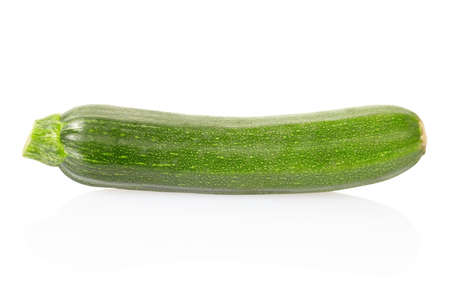 Zucchini isolated on white photo