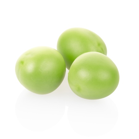 Green peas on white, clipping path included Stock Photo - 13041189